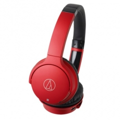 铁三角/Audio-technica ATH-AR3BT 带麦线控蓝牙头戴式耳机 红色
