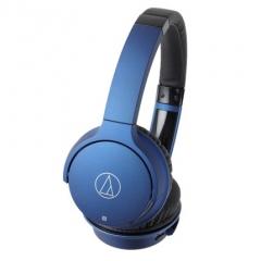 铁三角/Audio-technica ATH-AR3BT 带麦线控蓝牙头戴式耳机 蓝色
