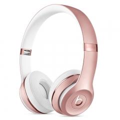Beats耳机Solo3wireless 头戴式蓝牙耳机 玫瑰金色