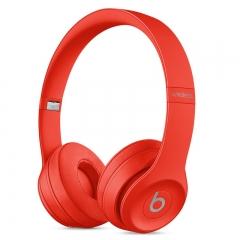 Beats耳机Solo3wireless 头戴式蓝牙耳机 红色
