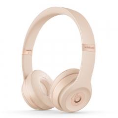 Beats耳机Solo3wireless 头戴式蓝牙耳机 磨砂金色