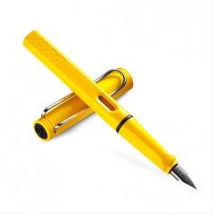 凌美LAMY钢笔签字笔水笔Safari狩猎者系列 标准F笔尖-黄色