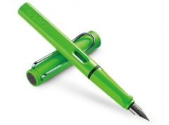 凌美LAMY钢笔签字笔水笔Safari狩猎者系列 标准F笔尖-绿色