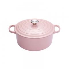 酷彩/Le Creuset 圆形锅--24cm/粉色